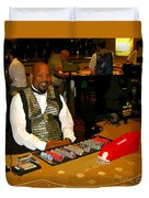 Dealer In Las Vegas Casino Duvet Cover