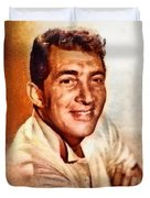 Dean Martin, Hollywood Legend By John Springfield Duvet Cover
