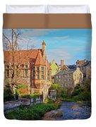 Dean Village, Edinburgh, Scotland Duvet Cover