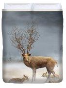Deer Cool Tone Duvet Cover