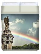 Death And A Rainbow Duvet Cover