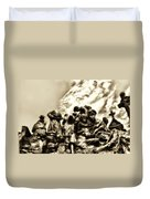 Death In The Time Of The Irish Famine Duvet Cover