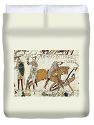 Death Of Harold, Bayeux Tapestry Duvet Cover
