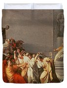 Death Of Julius Caesar Duvet Cover by Vincenzo Camuccini