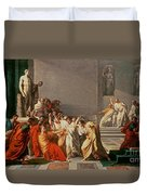Death Of Julius Caesar Duvet Cover
