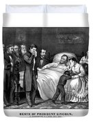 Death Of President Lincoln Duvet Cover