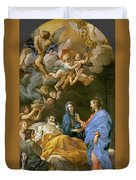 Death Of Saint Joseph Duvet Cover