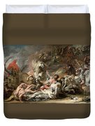 Death On The Pale Horse Duvet Cover by Benjamin West