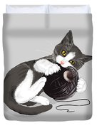 Death Star Kitty Duvet Cover by Olga Shvartsur