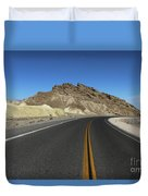 Death Valley Road Through The Badlands Duvet Cover