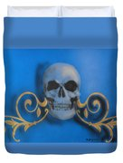 Death With A Flourish Duvet Cover