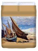 Deauville Beach 1866 Duvet Cover