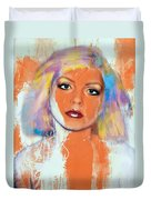 Debbie Harry - Orange Funky Grunge Duvet Cover
