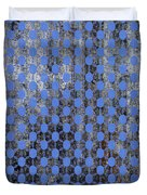 Decadent Urban Blue Patterned Abstract Design Duvet Cover
