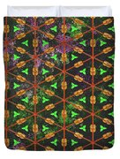 Decadent Urban Orange Green Patterned Abstract Design Duvet Cover
