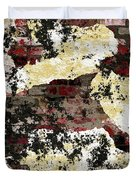 Decadent Urban Red Bricks Painted Grunge Abstract Duvet Cover