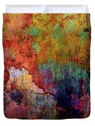 Decadent Urban Red Wall Grunge Abstract Duvet Cover