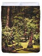 Decayed Vegetation - Run Swamp, North Carolina Duvet Cover