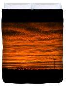 December Nebraska Sunset 002 Duvet Cover