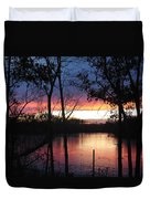 December Sunset Duvet Cover