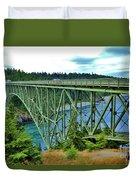 Deception Pass Bridge Duvet Cover