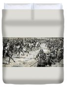 Decisive Battles  Where King Charles Lost His Crown Duvet Cover
