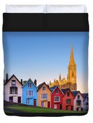 Deck Of Cards And St Colman's Cathedral, Cobh, Ireland Duvet Cover