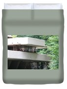Deck View Fallingwater  Duvet Cover