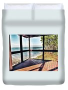Deck With Ocean View Duvet Cover