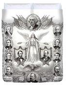 Declaration Of Independence 1884 Poster Restored Duvet Cover