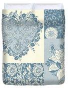 Deco Heart Blue Duvet Cover