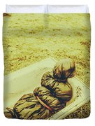 Decomposition Of A Murder Mystery Duvet Cover