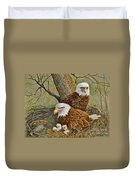 Decorah Eagle Family Duvet Cover