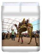 Decorated Camel Pushkar Duvet Cover