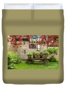 Half-timbered House, Riquewihr, Alsace,france  Duvet Cover