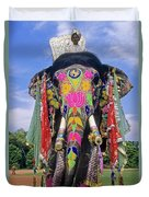 Decorated Indian Elephant Duvet Cover