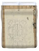 Decorative Design, Carel Adolph Lion Cachet, 1874 - 1945 W Duvet Cover