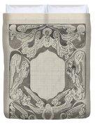Decorative Design With Angels, Carel Adolph Lion Cachet, 1874 - 1945 Duvet Cover