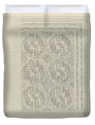 Decorative Design With Geometric Motif, Carel Adolph Lion Cachet, 1874 - 1945 Duvet Cover