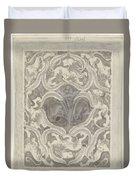 Decorative Design With Leaf Motif, Carel Adolph Lion Cachet, 1874 - 1945 Duvet Cover