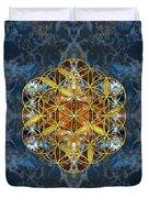 Decorative Gemstone Sacred Geometry Flower Of Life   Duvet Cover