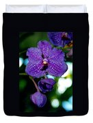 Deep Blue Orchid Duvet Cover