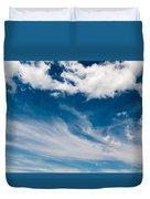 Deep Blue Sky Duvet Cover