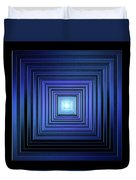 Deep Blue Solstice Duvet Cover