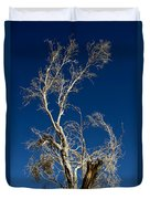 Deep Blue White Tree Duvet Cover