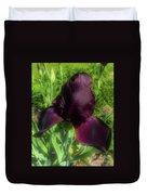 Deep Burgundy Iris Duvet Cover