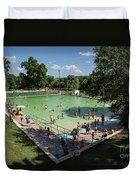 Deep Eddy Pool Is A Family Friendly, Family Fun, Public Swimming Pool In Austin, Texas Duvet Cover