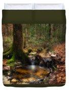 Deep Forest Creek Duvet Cover