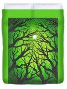 Deep Green Forest Duvet Cover
