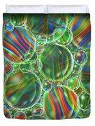 Deep Green Marbles Shower Curtain Duvet Cover